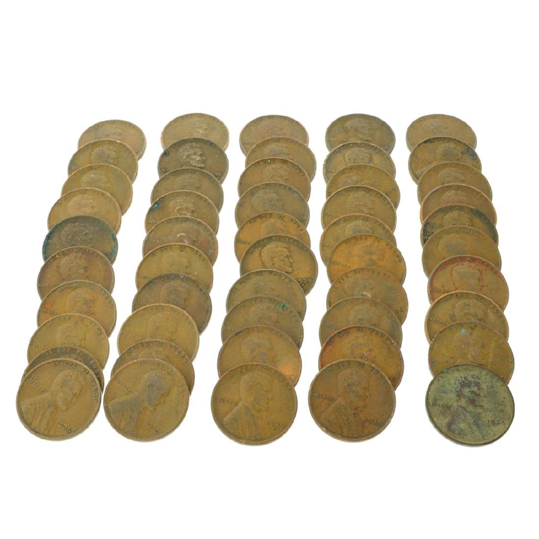 50 Rare 1930's Lincoln Cents - Investment