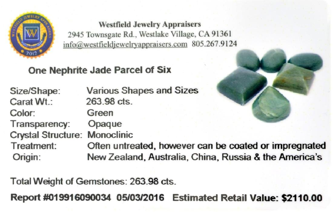 APP: 2.1k 263.98CT Various Shapes And sizes Nephrite - 2