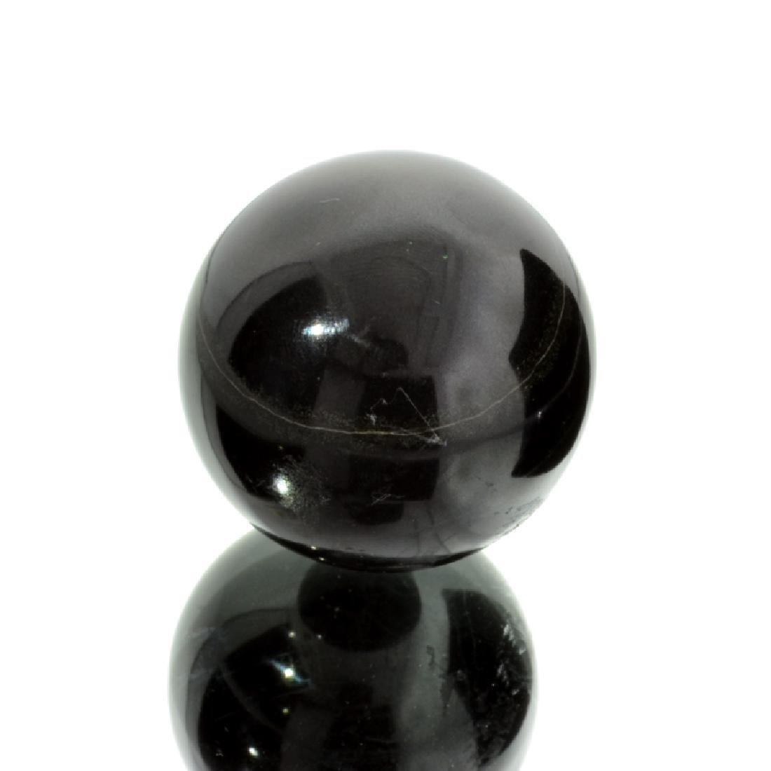 APP: 1.2k Rare 656.00CT Sphere Cut Black Agate Gemstone