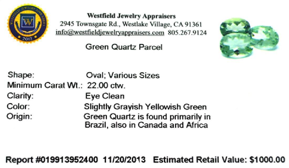 APP: 1k 22.0OCT Oval Cut Green Quartz Parcel - 2