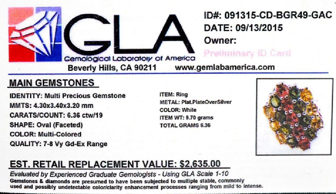 6.36CT Oval Cut Multi-Colored Multi Precious Gemstones - 2