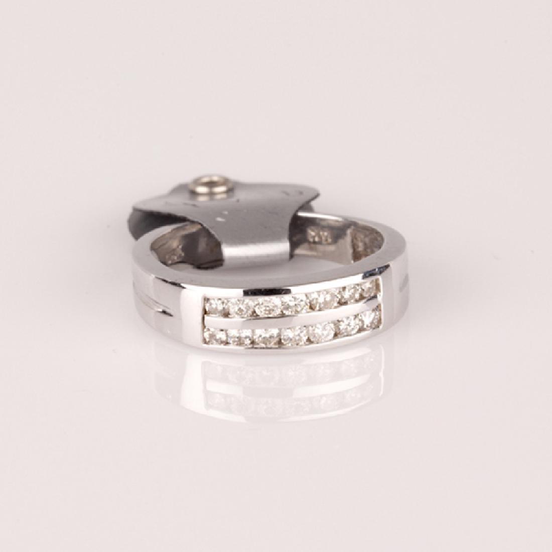 *Fine Jewelry 14 kt. White Gold, New Custom Made,
