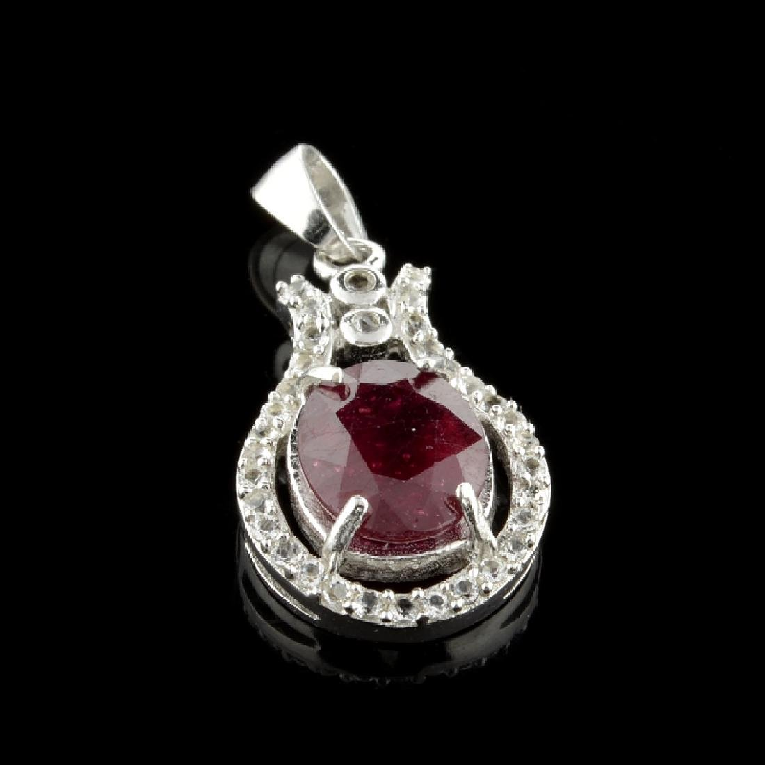 APP: 1k Fine Jewelry 3.25CT Ruby And Colorless Topaz