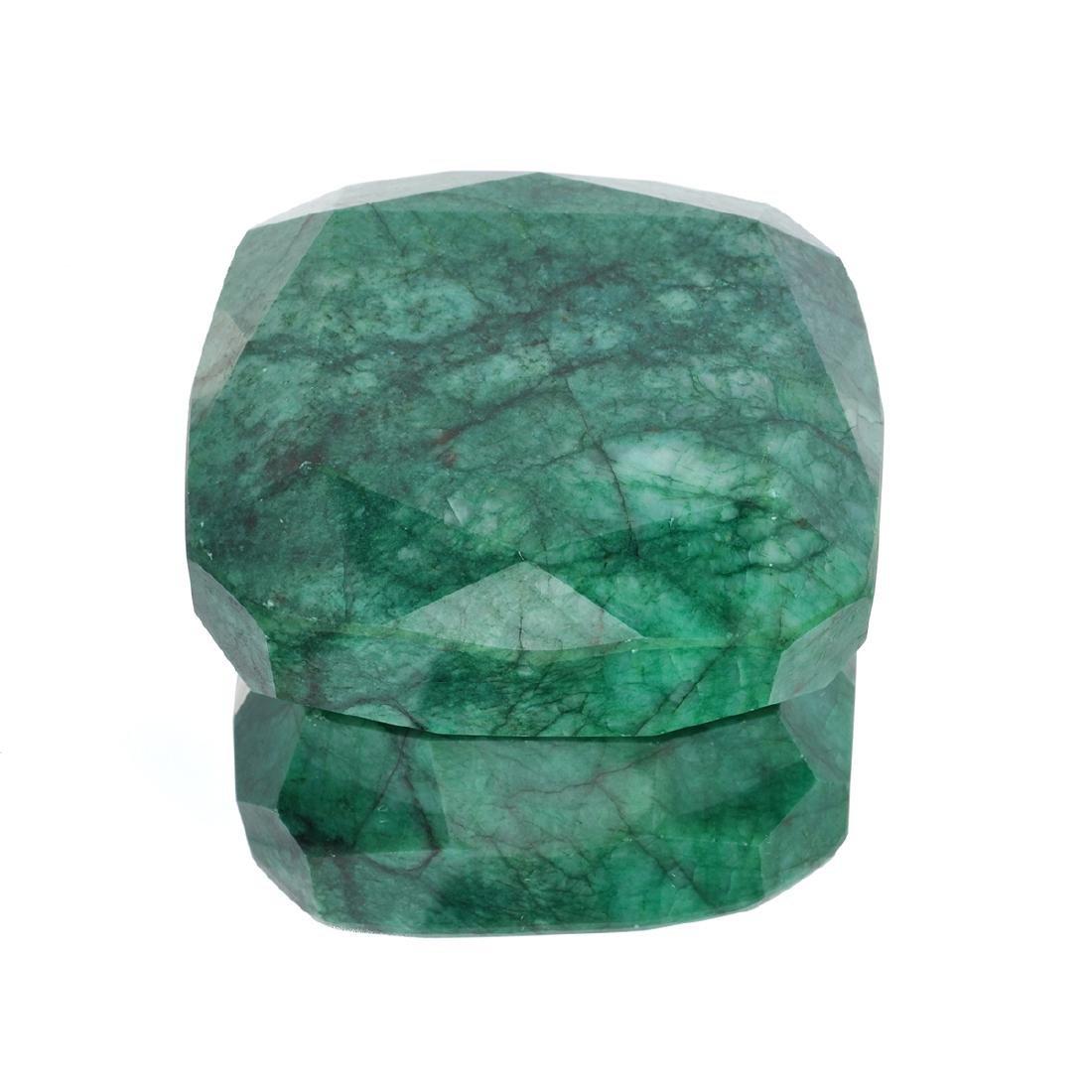APP: 5.7k 2,282.13CT Rectangular Cushion Cut Green