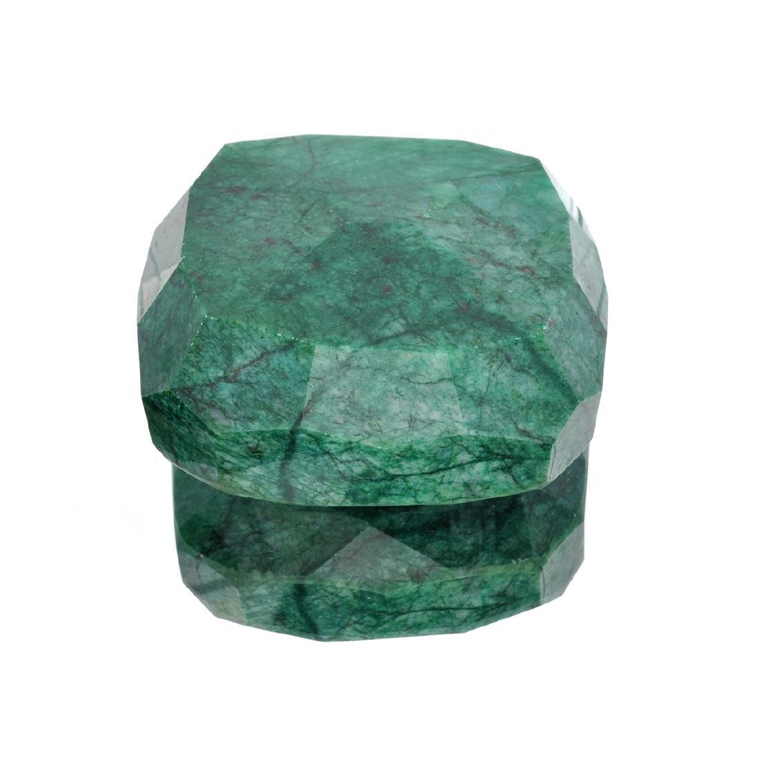 APP: 5.7k 2,282.13CT Rectangular Cushion Cut Green - 2