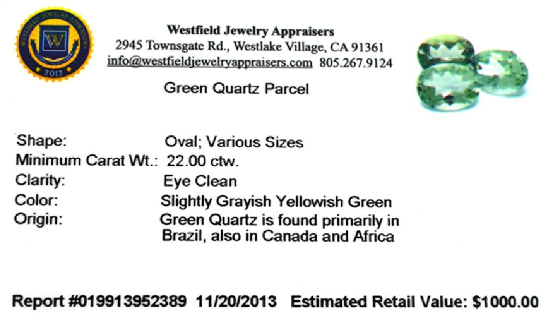 APP: 1k 22.00CT Oval Cut Green Quartz Parcel - 2