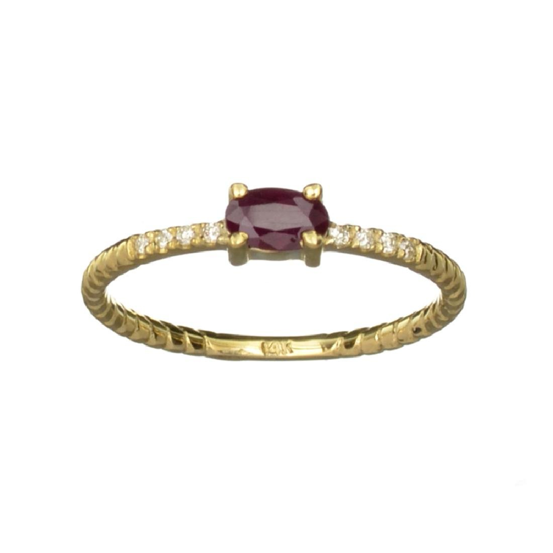 APP: 0.6k Fine Jewelry 14 KT Gold, 0.31CT Ruby And
