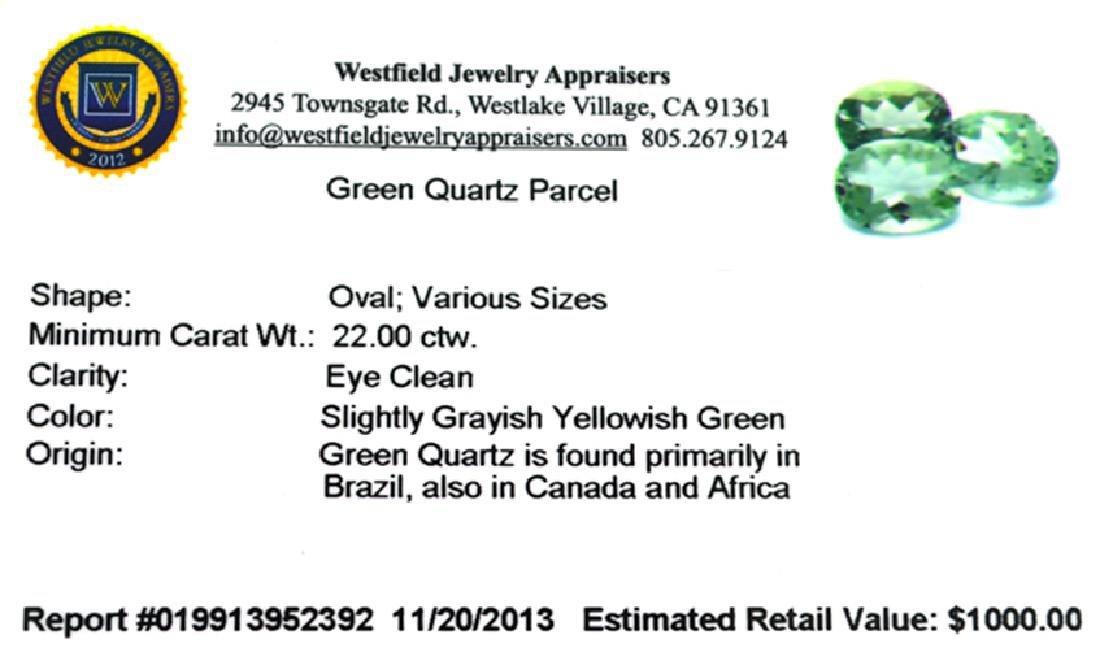 APP: 1k 22.00CT Oval Cut Green Quartz Parcel - 2