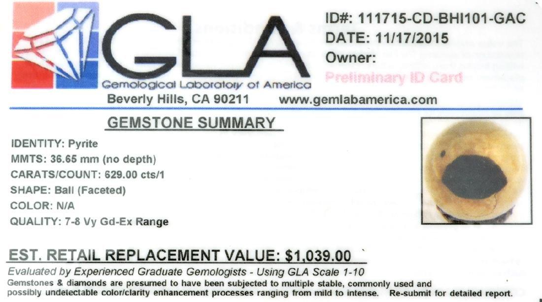 APP: 1k Rare 629.00CT Pear Cut Pyrite Gemstone - 2