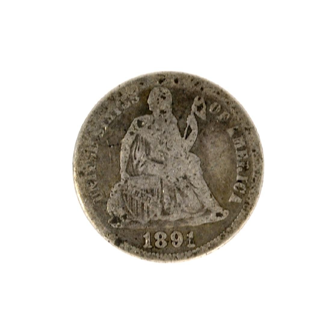 1891 Liberty Seated Dime Coin