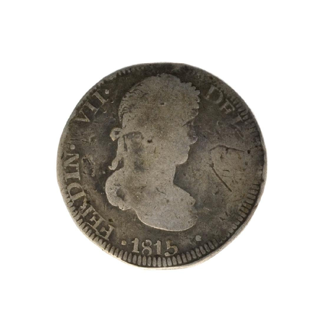 1815 Eigth Reales American First Silver Dollar Coin -