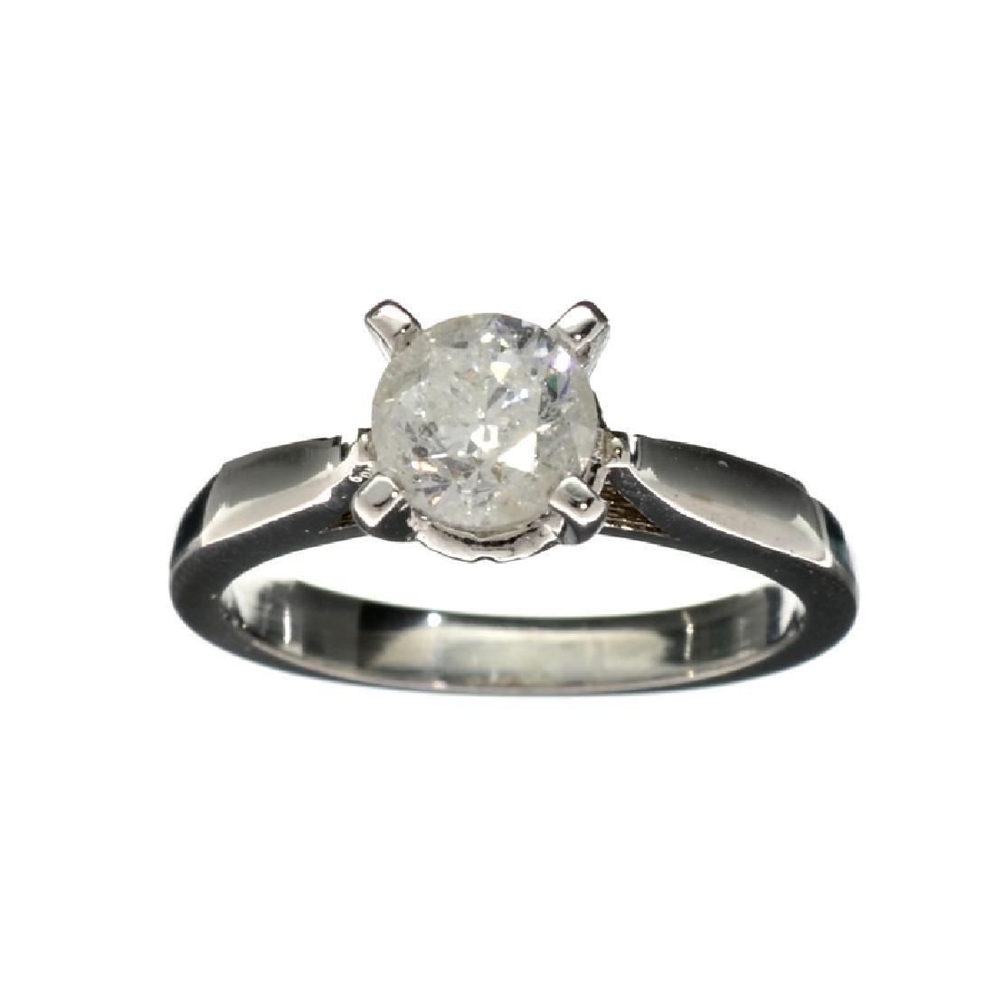 APP: 7k 14 kt. White Gold, 1.02CT Round Cut Diamond