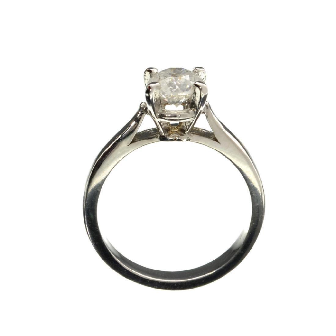 APP: 7k 14 kt. White Gold, 1.02CT Round Cut Diamond - 2