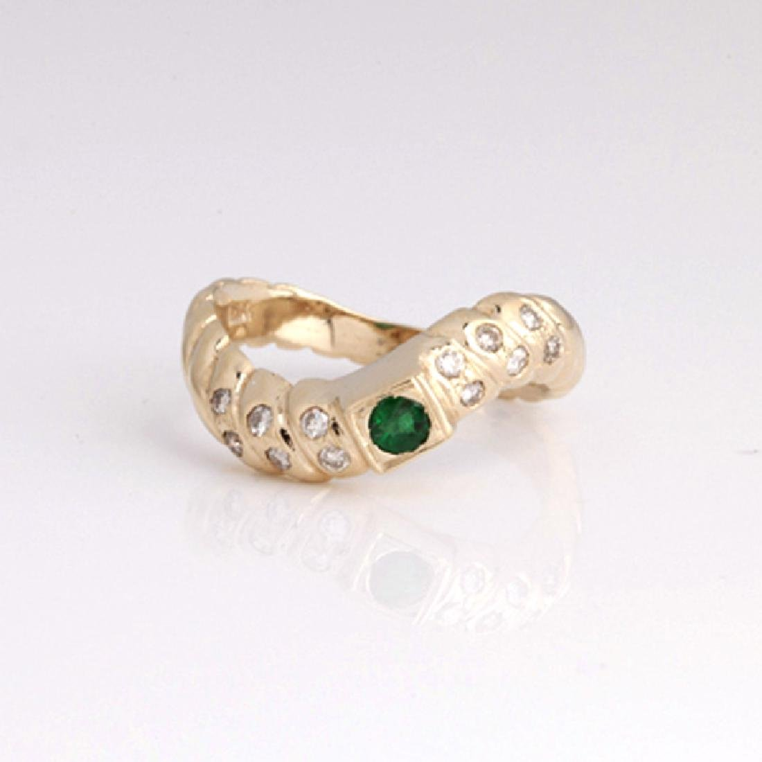 *Fine Jewelry 14 kt. Gold, New Custom Made 0.25CT