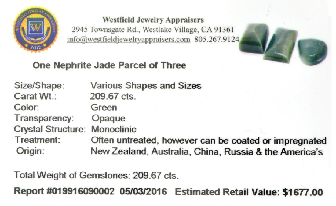 APP: 1.7k 209.67CT Various Shapes And sizes Nephrite - 2