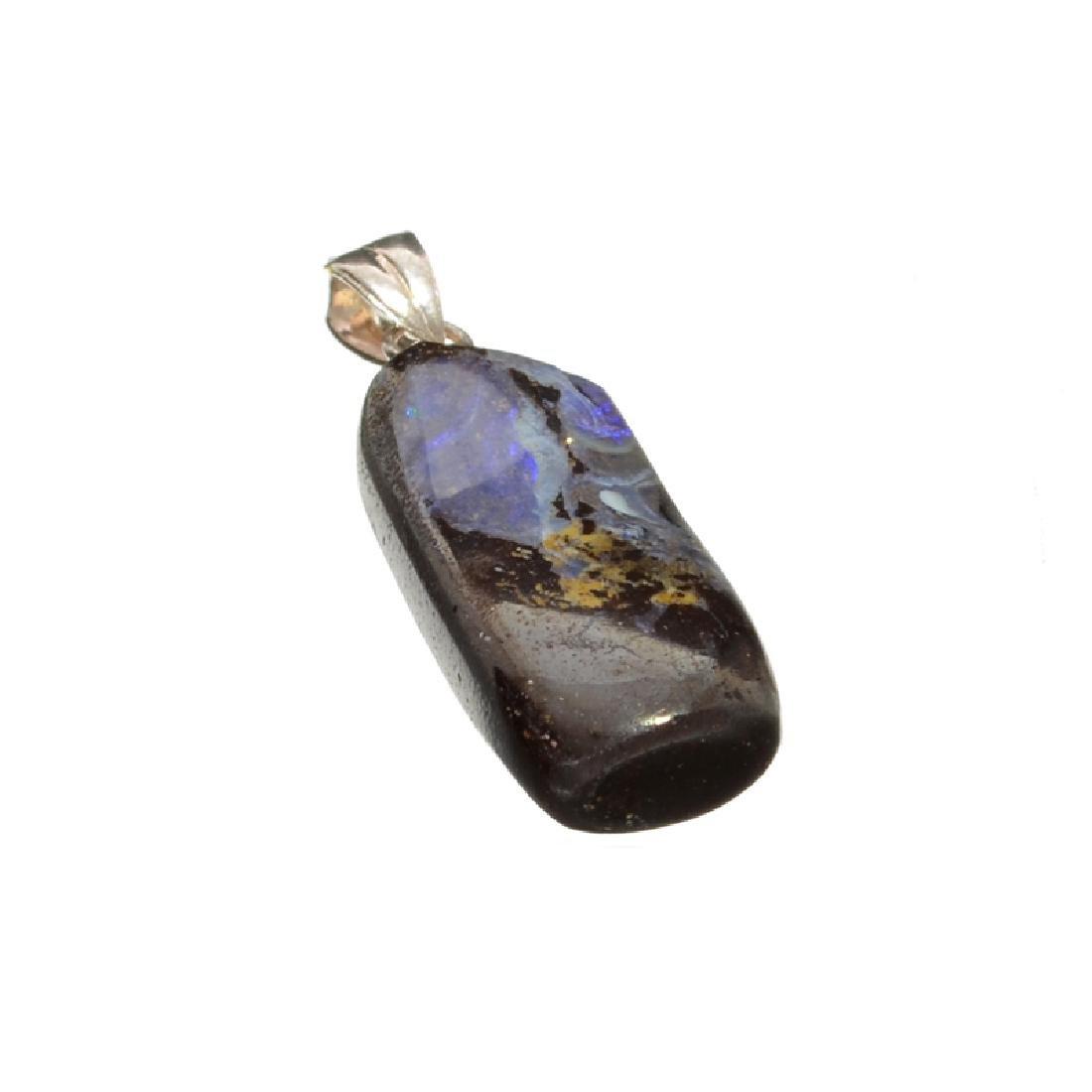 12.40CT Boulder Opal Sterling Silver Pendant