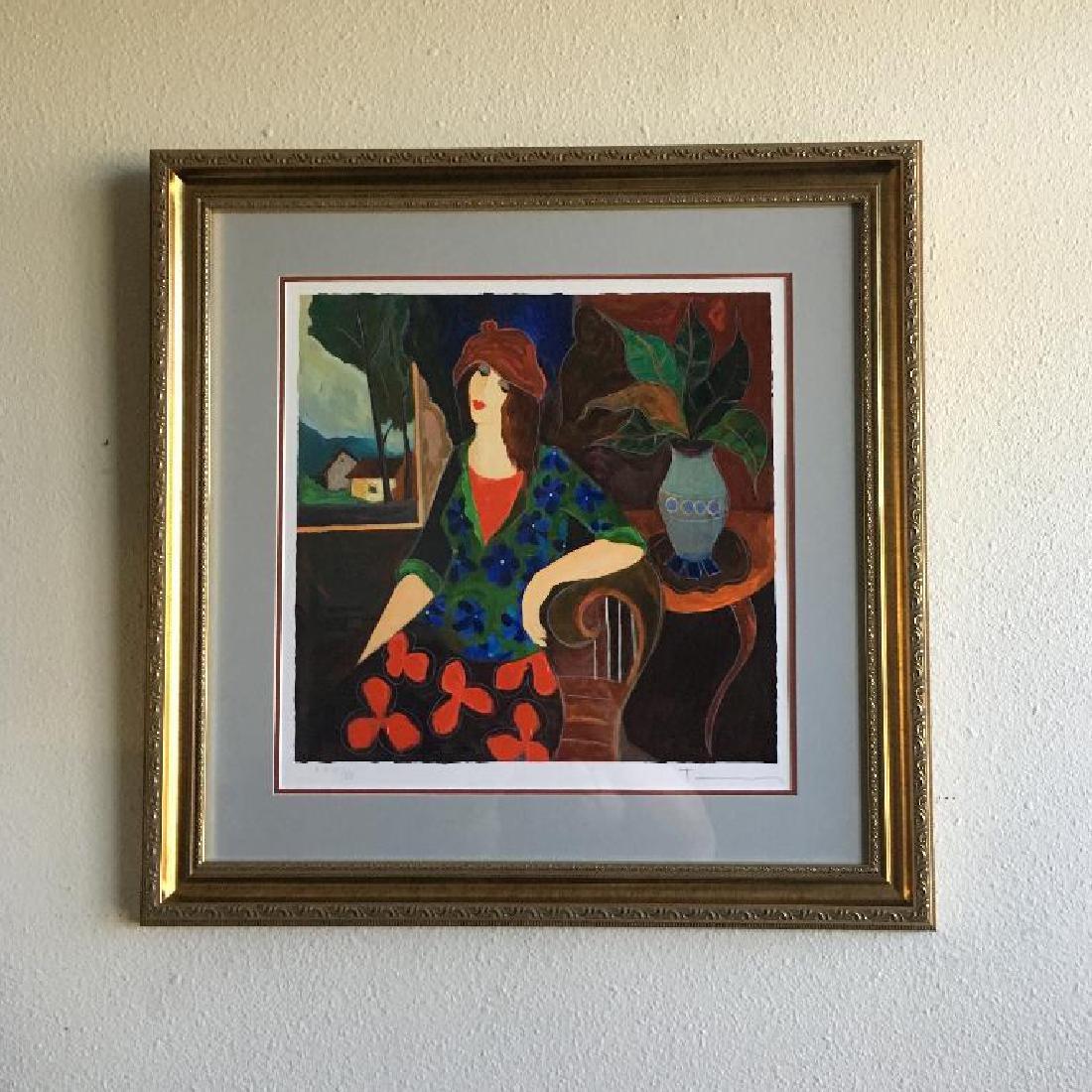 Tarkay- Framed Lithograph-Signature ''''Amanda''''