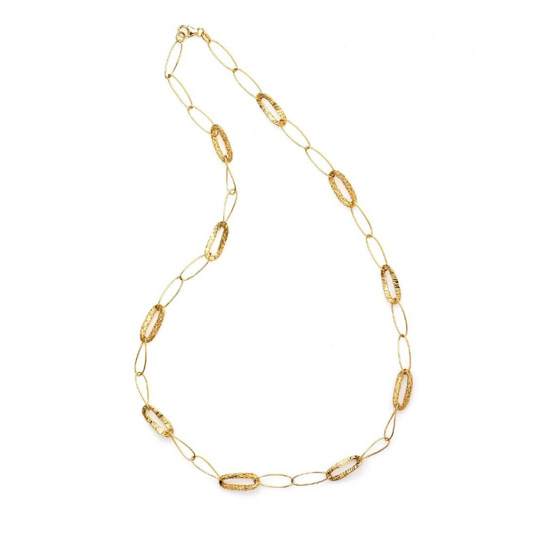 *Fine Jewelry 14 KT Gold, Oval Links, Open Cage, 7.5GR.