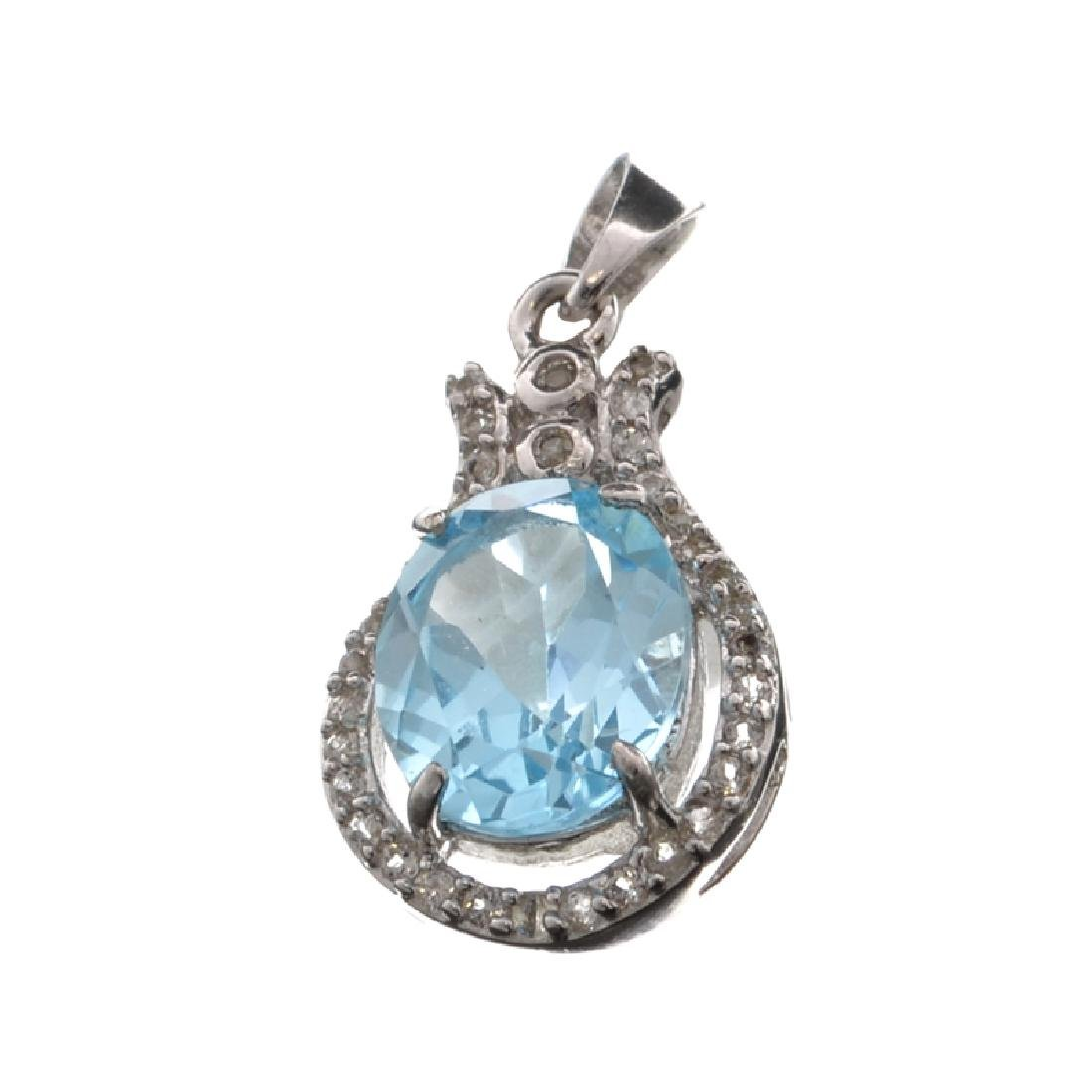 APP: 0.8k Fine Jewelry 4.60CT Blue Topaz And White