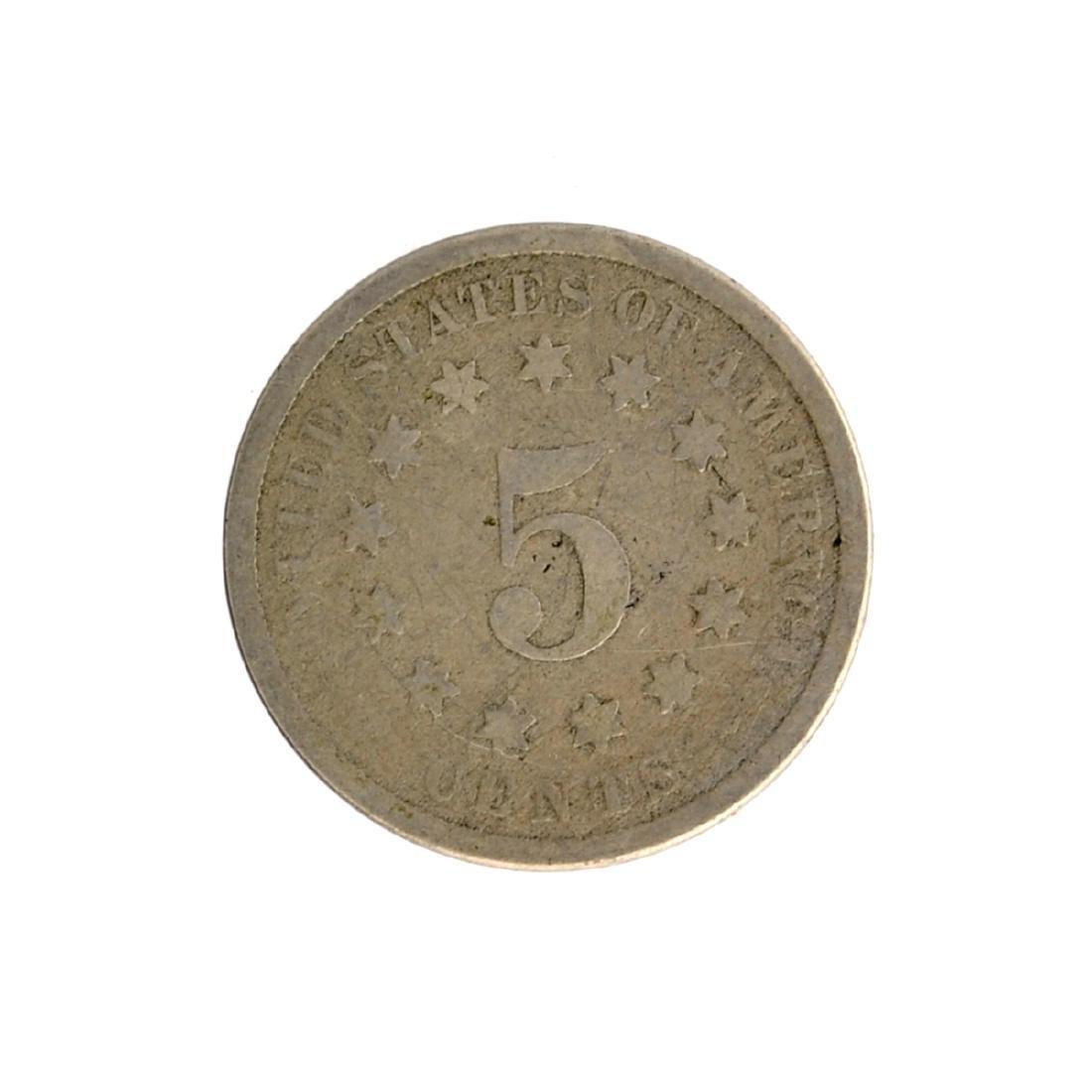 1876 Shield Nickel Coin - 2