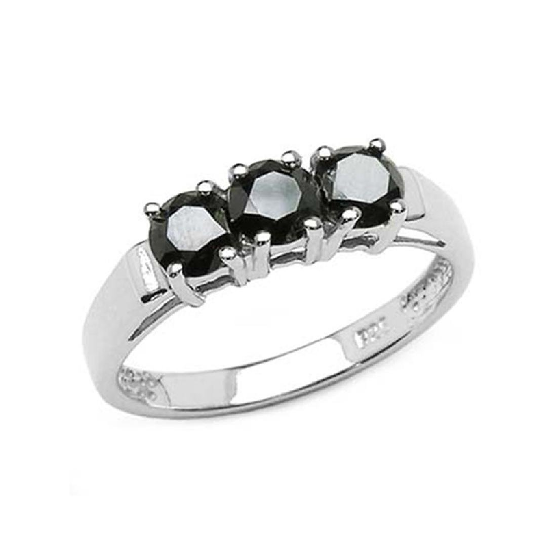 *Fine Jewelry 1.19CT Round Cut Black Diamond And