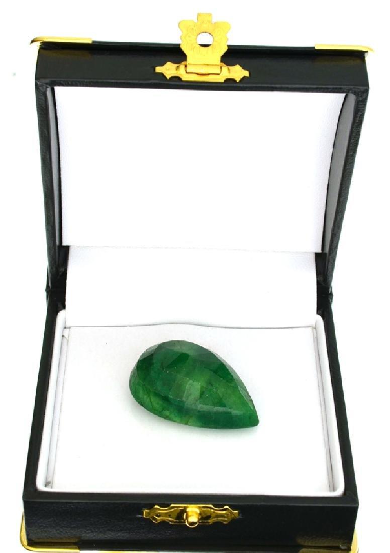 APP: 1.1k 55.11CT Pear Cut Green Beryl Gemstone - 2
