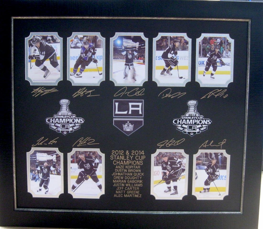 LA Kings 2012 & 2014 Engraved Collage