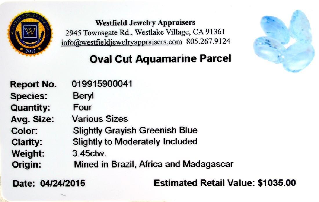 APP: 1k 3.45CT Oval Cut Aquamarine Parcel - 2