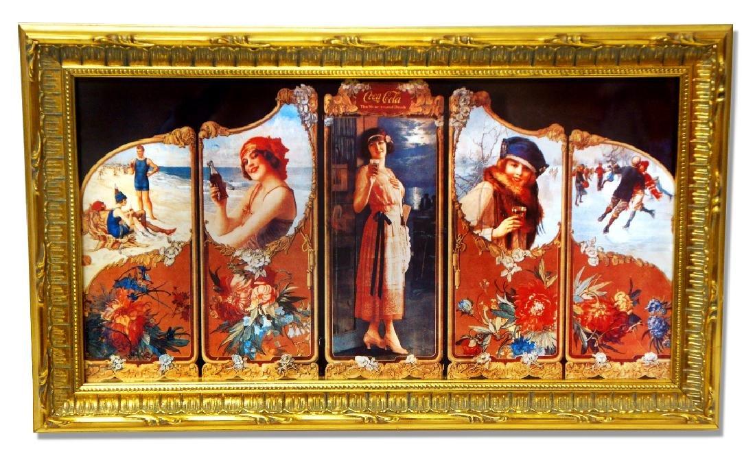 Museum Framed Coca-Coca Advertising  9.5x16.25