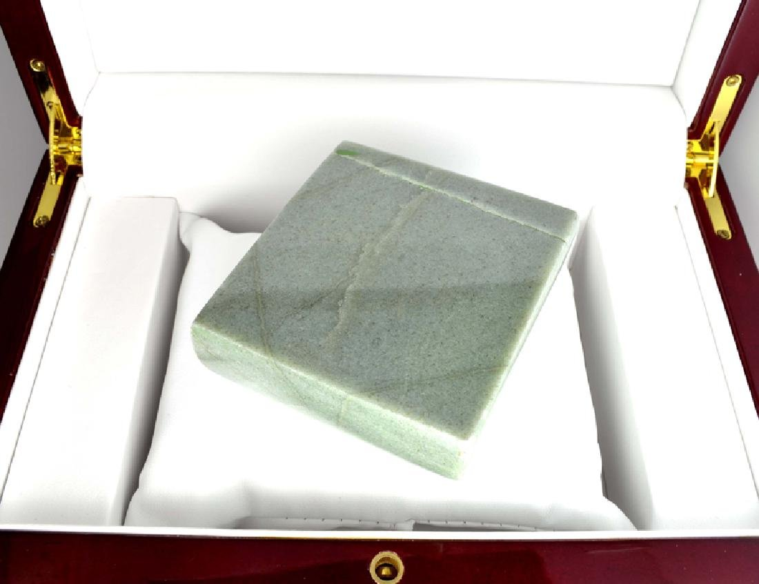 APP: 17k 1,892.50CT Square Cut Green Guatemala Jade