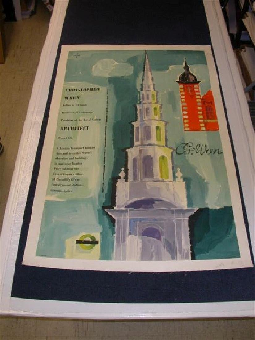 Set of 2 Christopher Wren Posters by Unger on Linen - 2