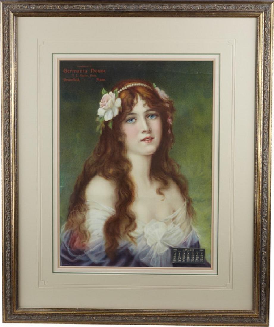 J.L. Eppler Greenfield, MA 1911 Framed Litho 24x30 -P-