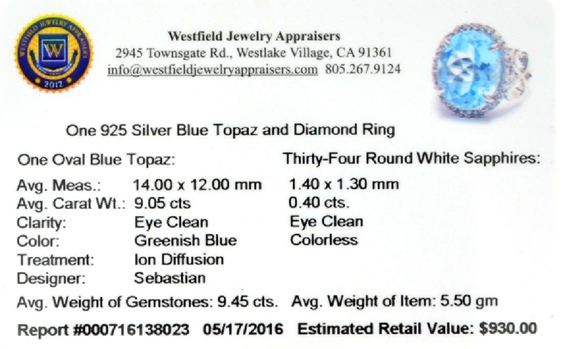 APP: 0.9k Fine Jewelry Designer Sebastian, 9.45CT Blue - 2