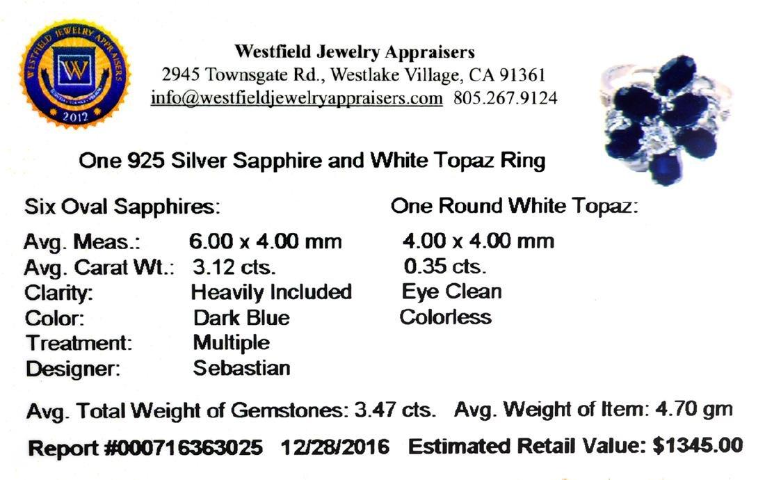 APP: 1.3k Fine Jewelry Designer Sebastian, 3.47CT Blue - 2