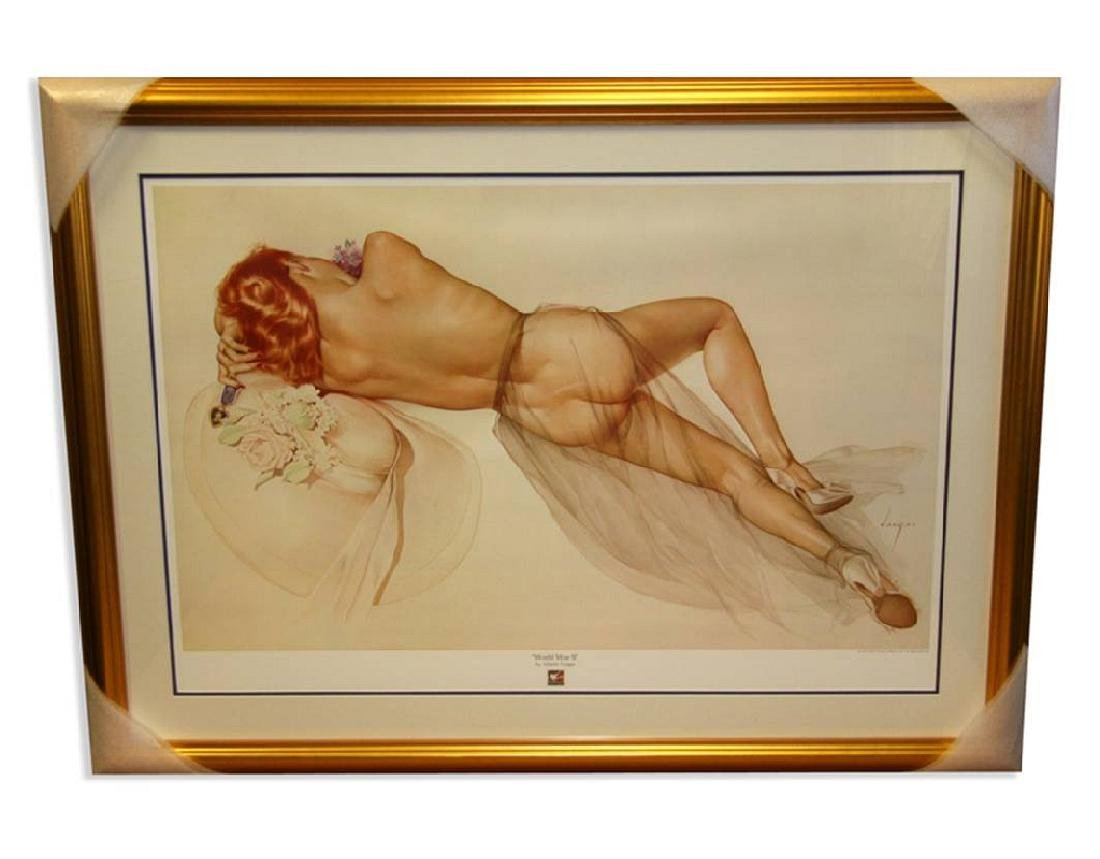 Alberto Vargas (Naked) Exquisitely Museum Framed &
