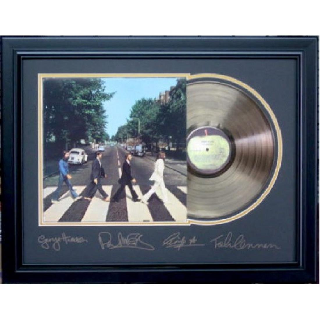 Beatles Engraved Abbey Road Gold Record