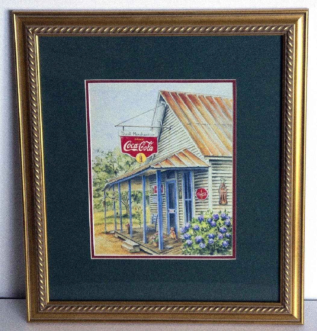 Museum Framed Coca-Coca Advertising  8.75x10.75