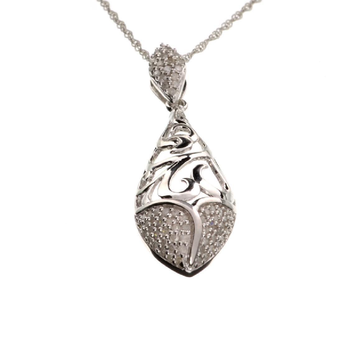 APP: 1k Fine Jewelry 0.33CT Round Cut Diamond And