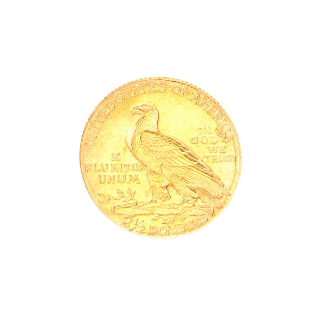 Very Rare 1913 $2.50 U.S. Indian Head Gold Coin Great - 2
