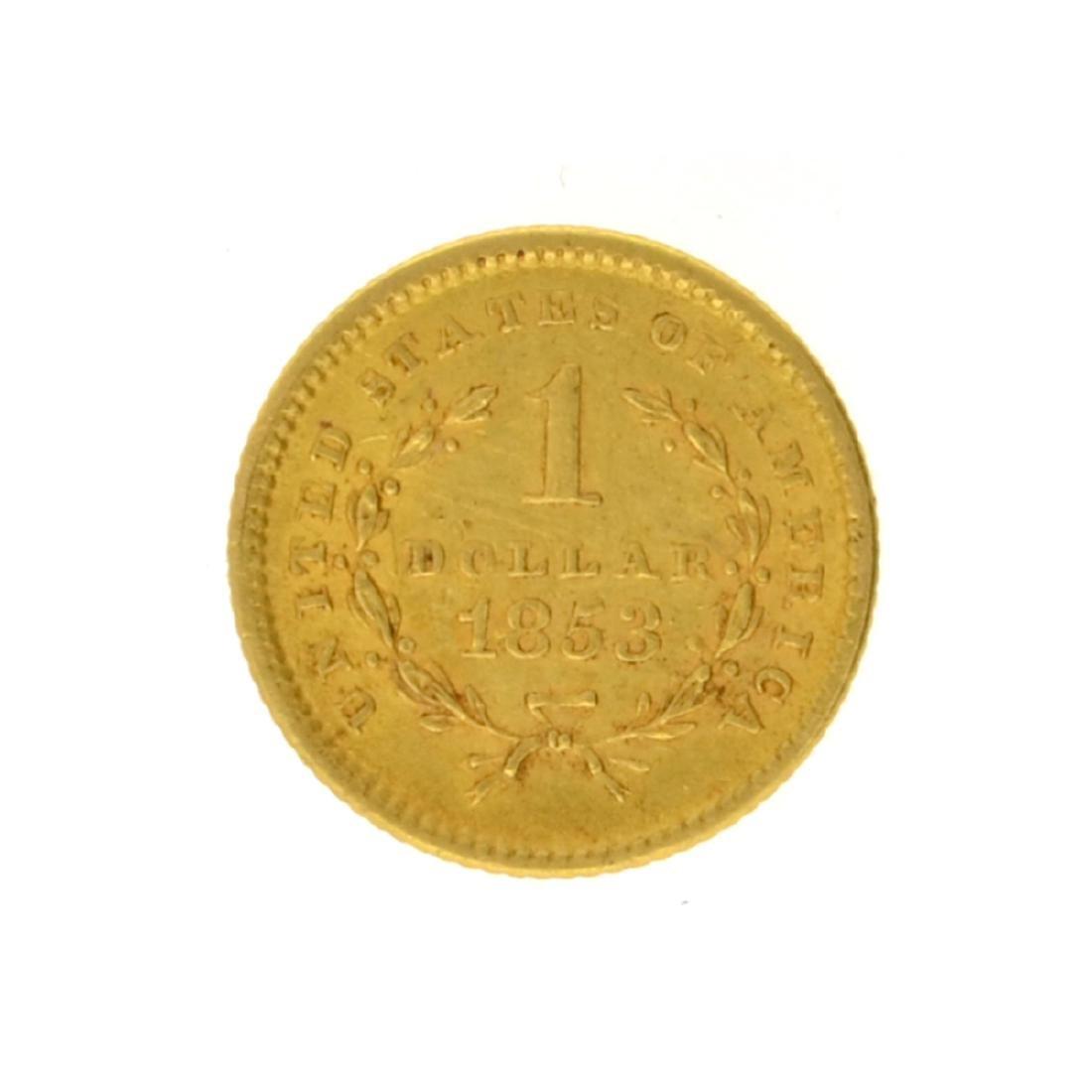 1853 $1 Liberty Head Gold Coin - 2