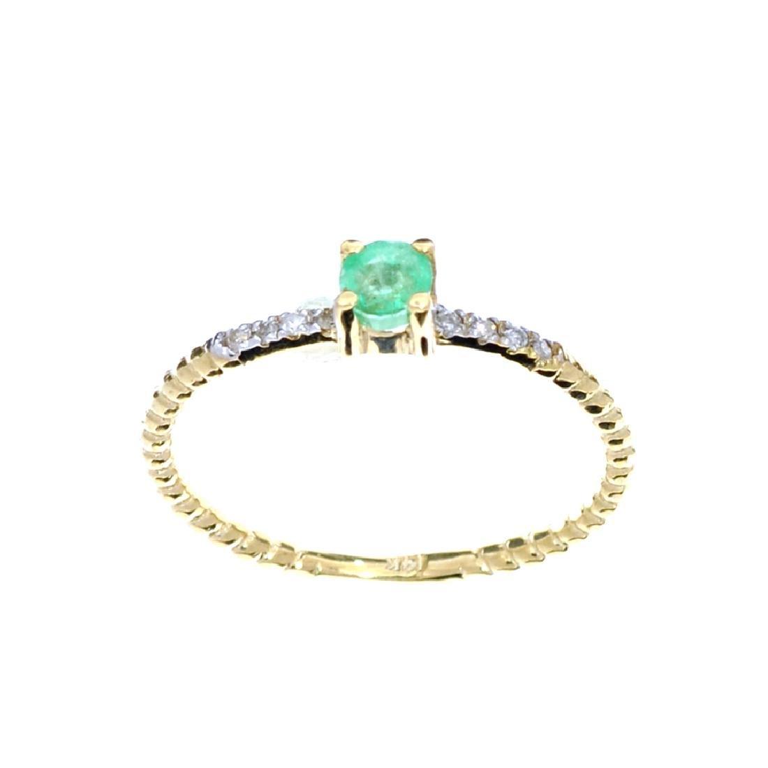 APP: 0.6k Fine Jewelry 14 KT Gold, 0.21CT Round Cut