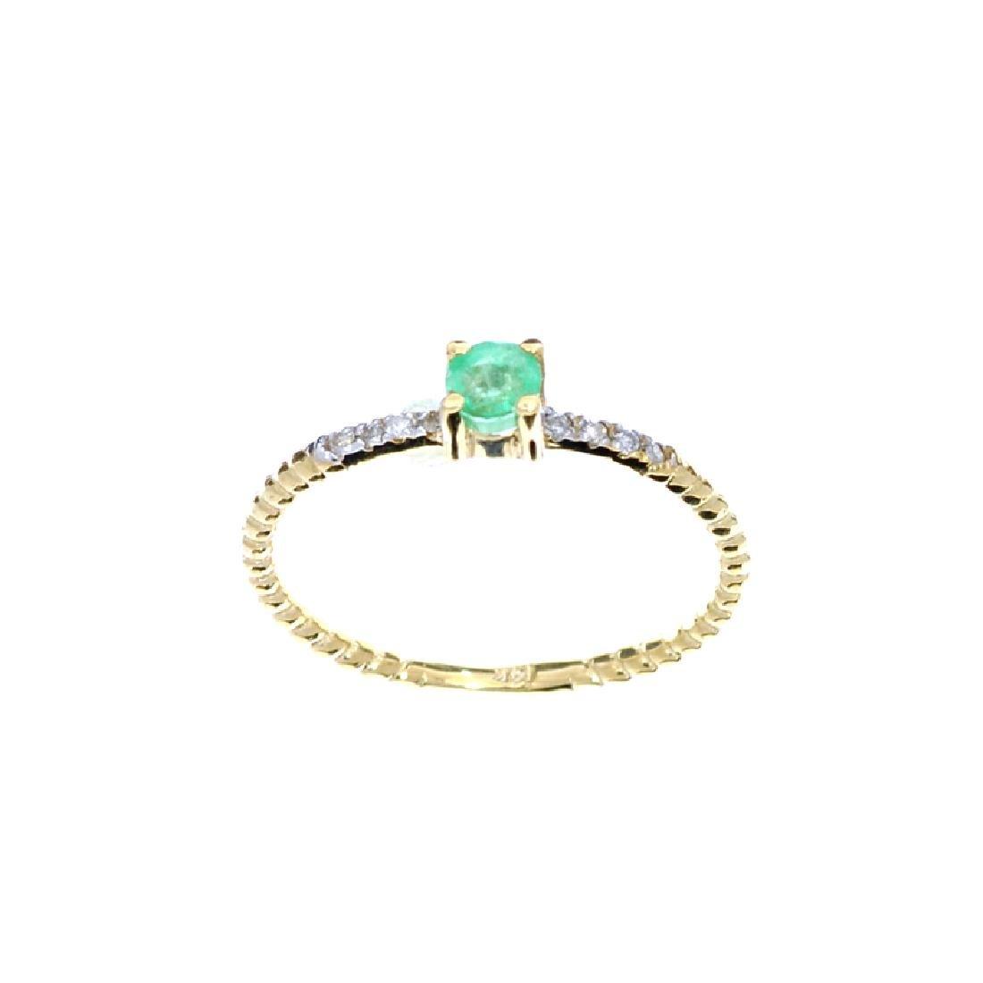APP: 0.6k Fine Jewelry 14 KT Gold, 0.21CT Round Cut - 2