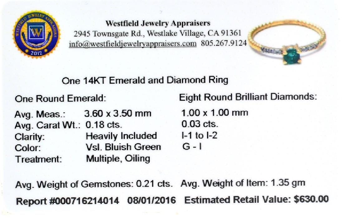 APP: 0.6k Fine Jewelry 14 KT Gold, 0.21CT Round Cut - 3