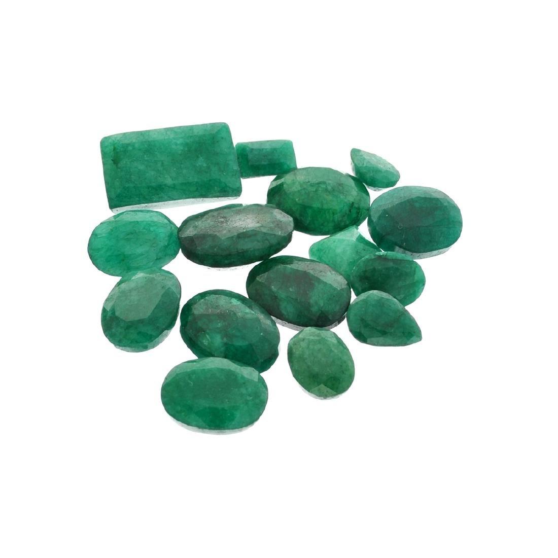 APP: 7.5k 100.35CT Various Shapes Green Emeral Parcel-