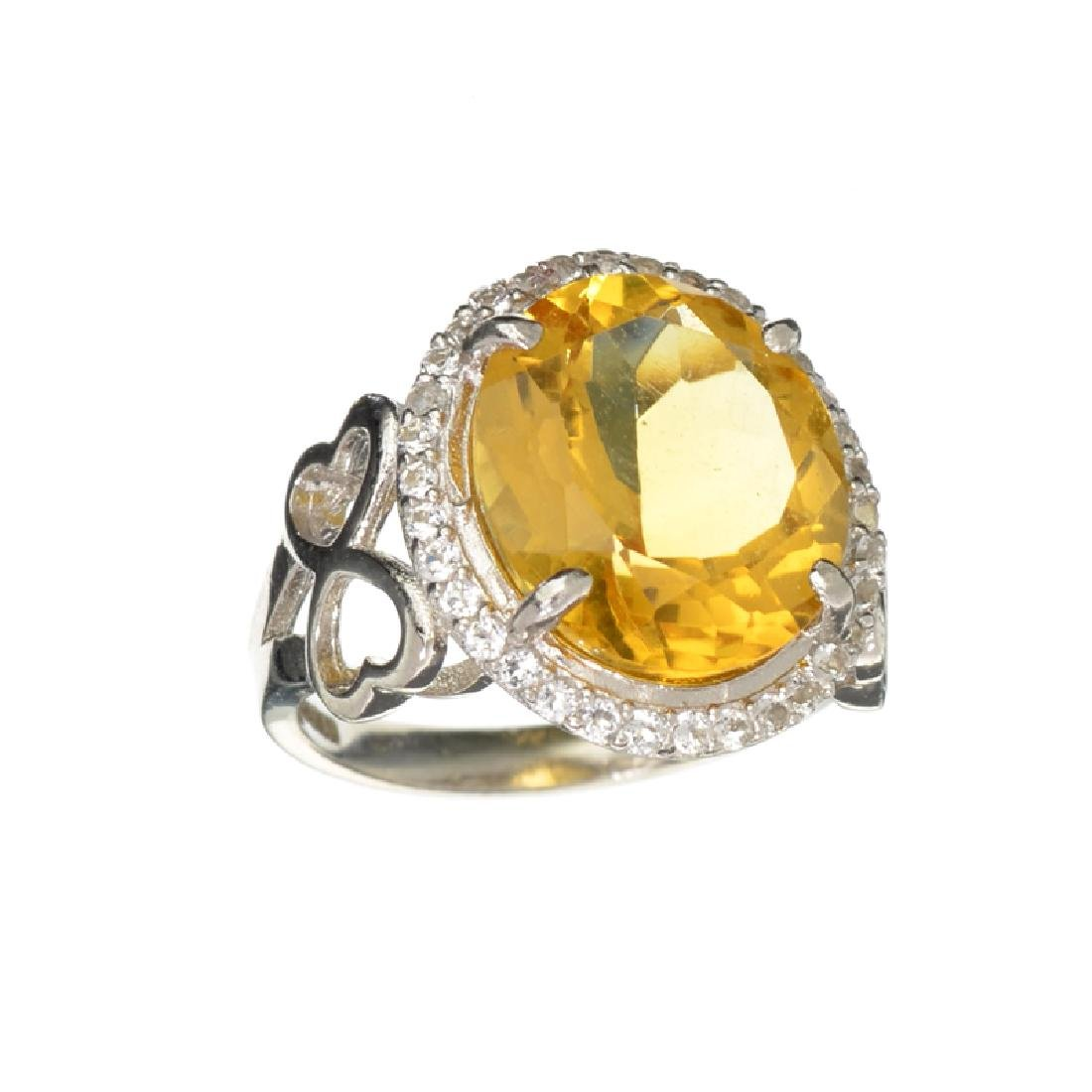 APP: 0.9k Designer Sebastian 7.20CT Citrine And Diamond
