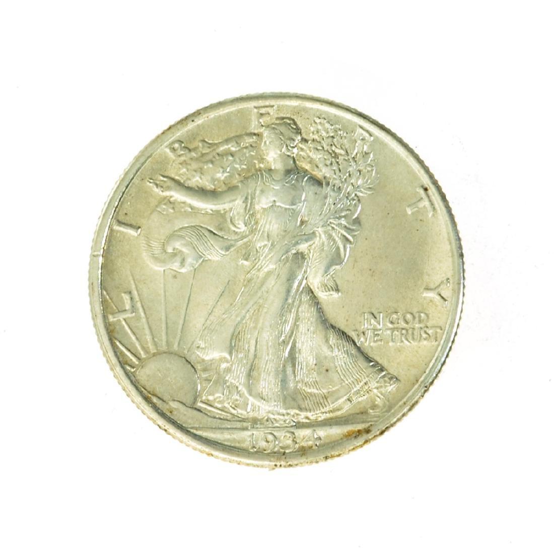 1934 Walking Liberty Half Dollar Coin