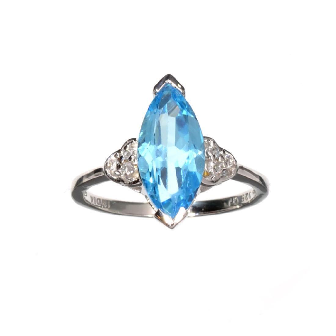 APP: 0.4k Fine Jewelry 3.63CT Blue Topaz And White