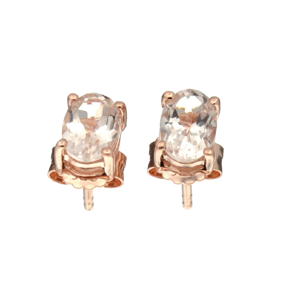 APP: 0.7k Fine Jewelry 1.30CT Morganite And  Rose Gold