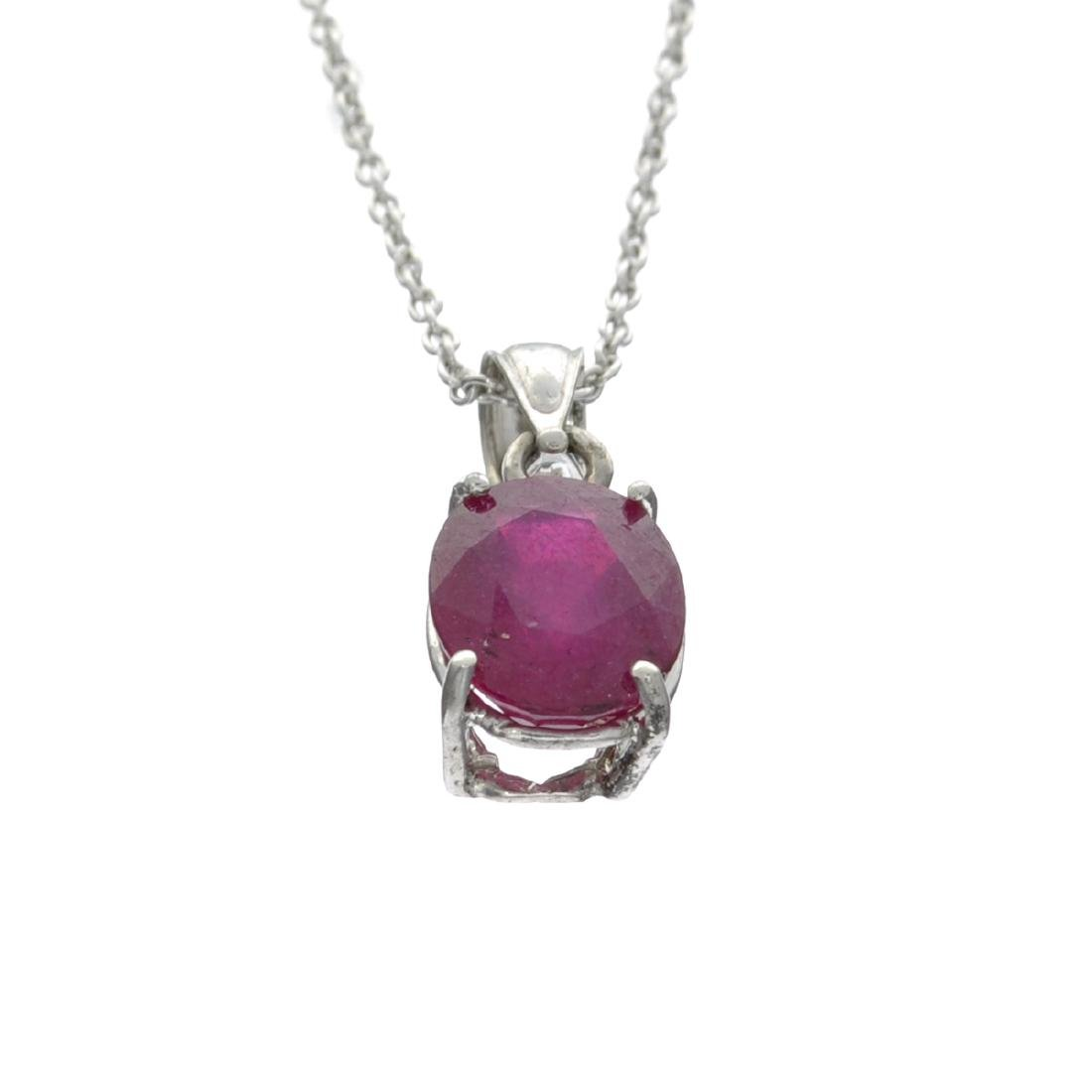 Fine Jewelry Designer Sebastian 3.63CT Oval Cut Ruby