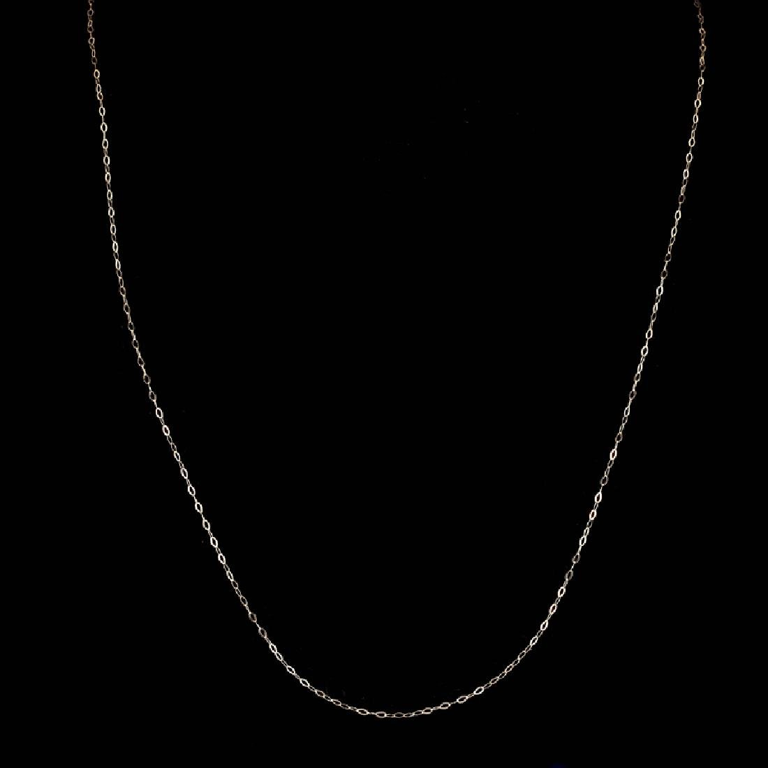 *Fine Jewelry 14 KT Gold, 18'' Diamond Cut Link Chain